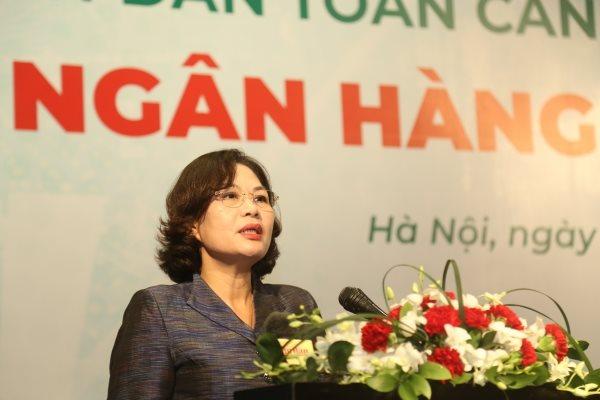 Phó Thống đốc NHNN Nguyễn Thị Hồng phát biểu khai mạc Diễn đàn